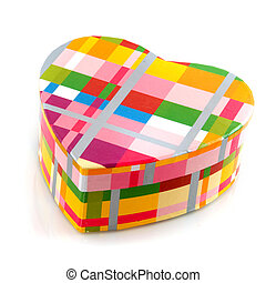 Box with heart shape