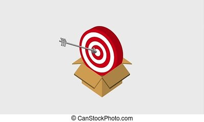 box with target arrows strategy animation hd