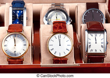 box with wristwatches