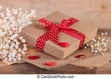 boxas, dag, gåva, valentinkort