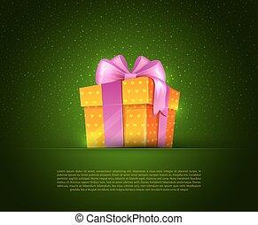 boxas, färgrik, gåva