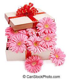 boxas, flowers., gåva