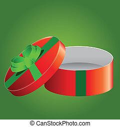 boxas, gåva, år, färsk, jul, lycklig