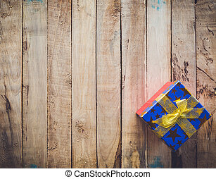 boxas, gåva, Utrymme,  Text, ved, bakgrund