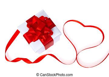 boxas, hjärta, gåva