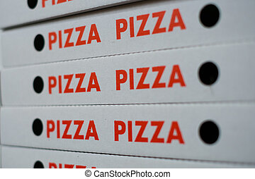 boxas, kartong kassera, -, rutor, tom, pizza