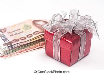 boxas, pengar, gåva