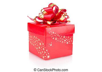 boxas, röd, gåva bocka