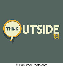 boxas, utanför, tänka
