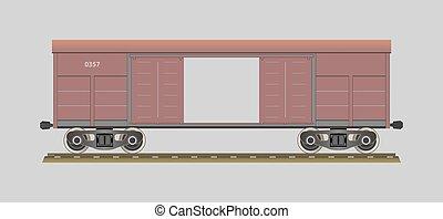 Boxcar. %u0421overed wagon. Vector illustration. EPS 10. Opacity