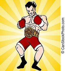 boxe, campeão