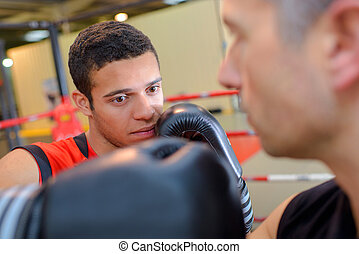 boxe, champion, aspirer