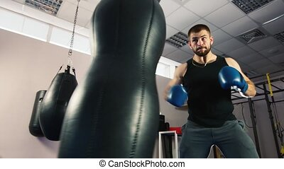 boxe, fort, workout:, boxing., homme