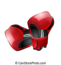 boxe, guantes, aislado