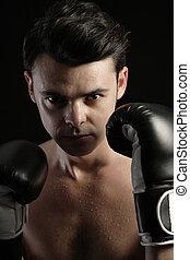boxe, homem jovem