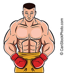 boxe, homme