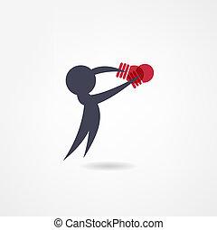 boxe, icône