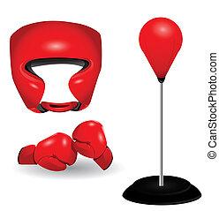 boxe, objetos