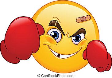 boxeador, emoticon