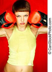 boxeador, rojo