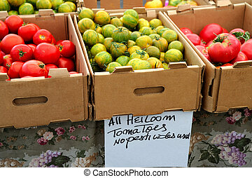 Boxed Heirloom Tomatoes - Boxes of different kinds of ...