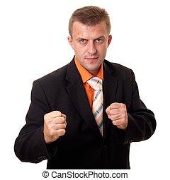 boxen, geschäftsmann