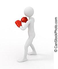 boxer, 3d, mann