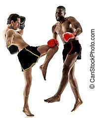 boxer, boxen, kickboxing, muay, thailändisch, kickboxer, maenner