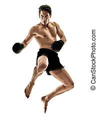 boxer boxing kickboxing muay thai kickboxer man