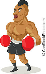 Boxer - Cartoon illustration of a boxer