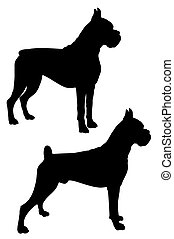 Boxer - Abstract vector illustration of dog silhouette