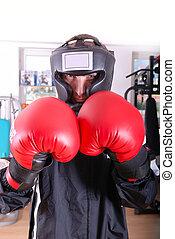 .boxer, closeup, gesicht
