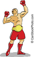 boxer - victory in the gold belt champion boxer is the...