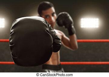 boxer, handschuhe, boxen