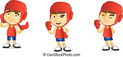 Boxer happy vector art ilustration