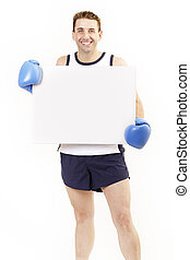 Boxer holding board