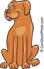 boxer hund, abbildung, karikatur