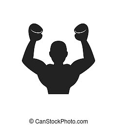 Boxer icon. Boxing design. Vector graphic