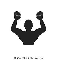 Boxer icon. Boxing design. Vector graphic