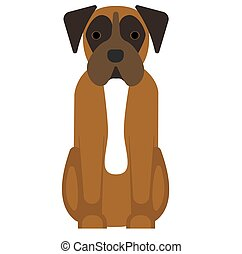 boxer illustration on white background