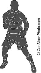 Boxer man, mixed martial arts fighter