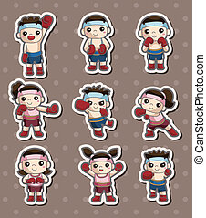boxer player stickers