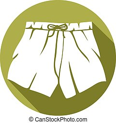 boxer shorts flat icon
