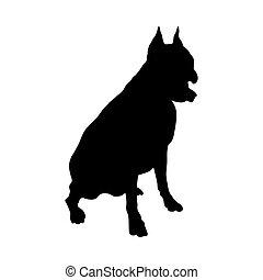 boxer, silhouette, hund