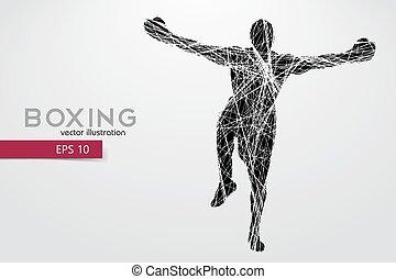 Boxer silhouette. Winner