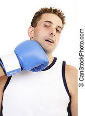 Boxer taking punch 2