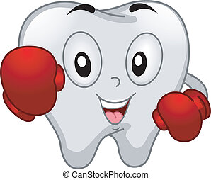 Boxer Tooth Mascot - Mascot Illustration of a Tooth Dressed...