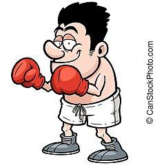 Boxer - Vector illustration of Cartoon Boxer