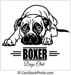 Boxer - vector illustration for t-shirt, logo and template badges