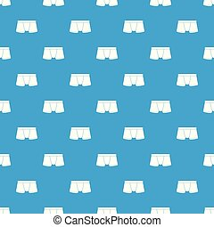 Boxers underpants pattern vector seamless blue repeat for...